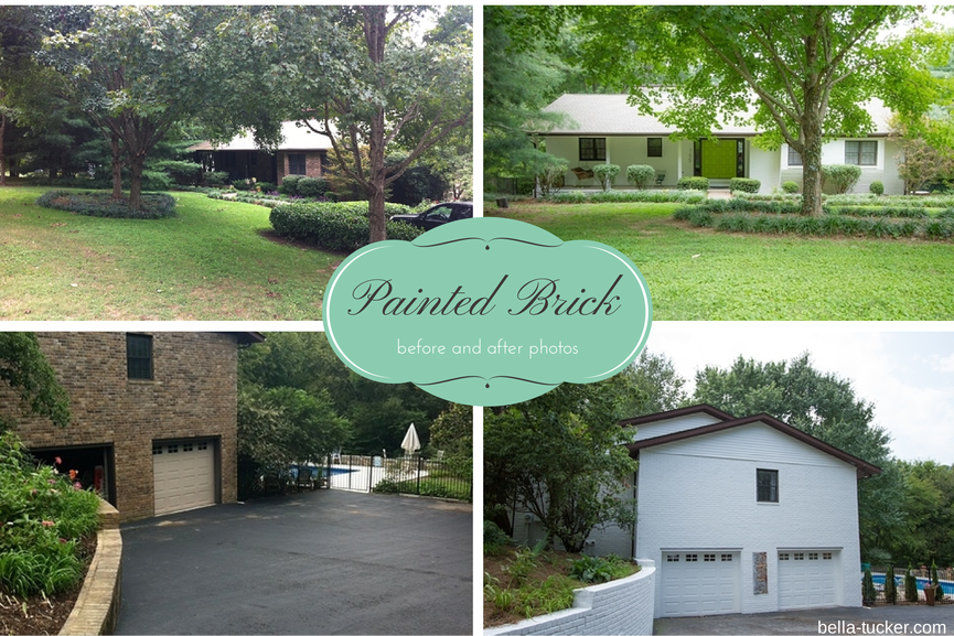Painted Brick Home Makeovers