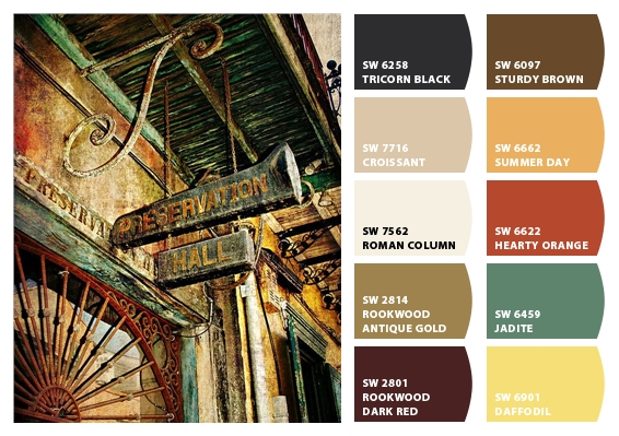Paint colors inspired by new orleans New orleans paint colors