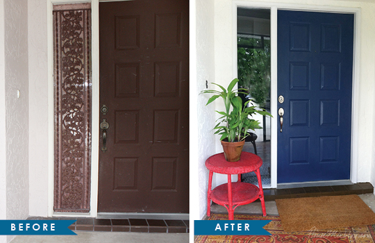 Fall Front Door Before and Afters