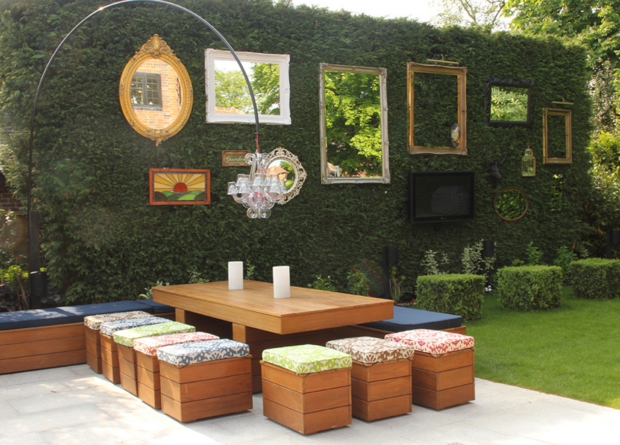 Eclectic Outdoor Areas