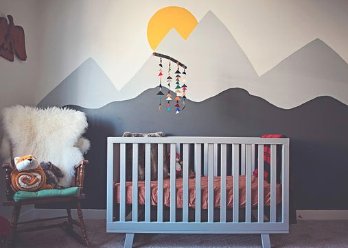 painted baby room murals castle painting