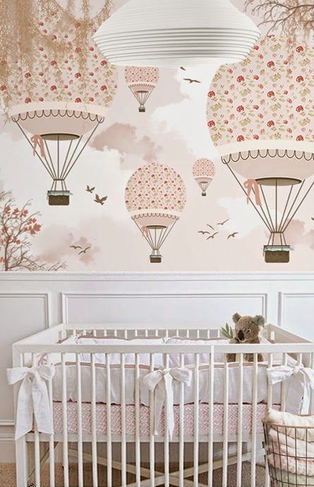 Painted Baby Room Mural